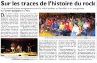 """Article : Concerts pédagogique, """"L'Histoire du Rock"""""""