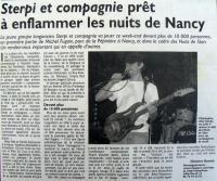 """Article """"Nuits de Stan"""" 1ère partie de Michel Fugain"""